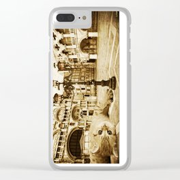 Giant Kitten in Venice (2) Clear iPhone Case
