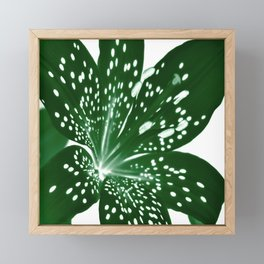Lily Infrared In Green Framed Mini Art Print