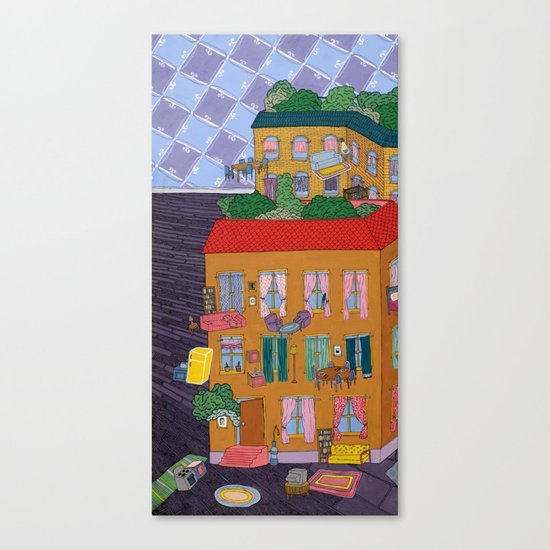 Inside Out Apartment Canvas Print