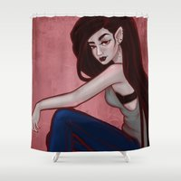 marceline Shower Curtains featuring Marceline by Persefone