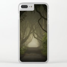 Mysterious alley at dawn Clear iPhone Case