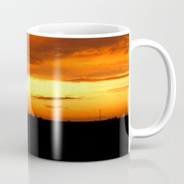 Sunset Over The Fields Coffee Mug