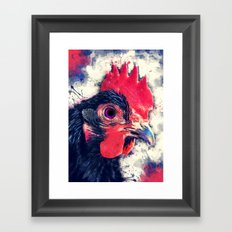 rooster art #rooster #animals Framed Art Print