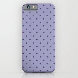 Lilac Purple Girly Polka Dot Prints iPhone Case