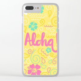 Spring Aloha! Clear iPhone Case