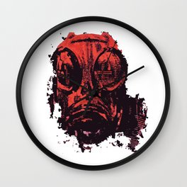 The Red Gas Wall Clock