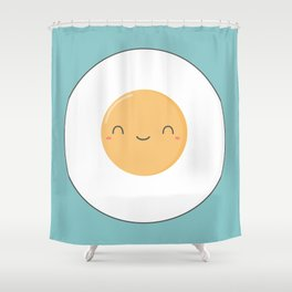 Kawaii Cute Fried Eggs Breakfast Shower Curtain