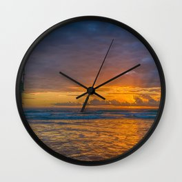 Sunset Behind the Clouds Wall Clock