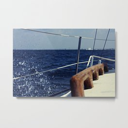 Waves Breaking to Windward Metal Print
