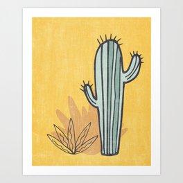 Simply Cactus Art Print