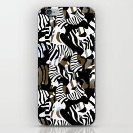 cubist zebra texture iPhone Skin