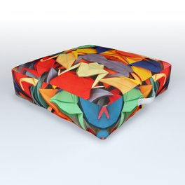 Senbazuru rainbow Outdoor Floor Cushion