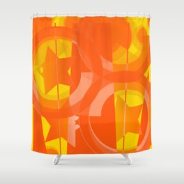 hoe is afraid of orange and yellow Shower Curtain