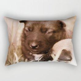 2 weeks old Dutch Shepherd puppies Rectangular Pillow