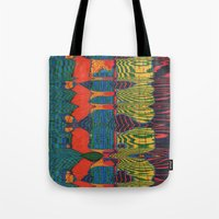 acid Tote Bags featuring Acid by Rocovich