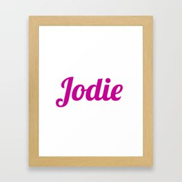 Jodie Framed Art Print