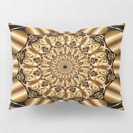 Golden mandala Pillow Sham
