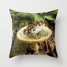 Toad Stool. Throw Pillow