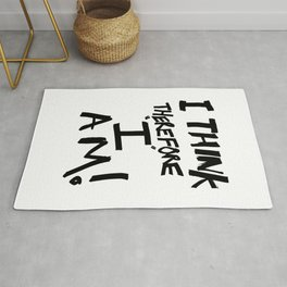 I think therefore I am - inverse redux Rug