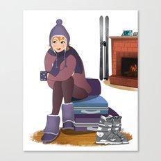 I Love Winter Canvas Print