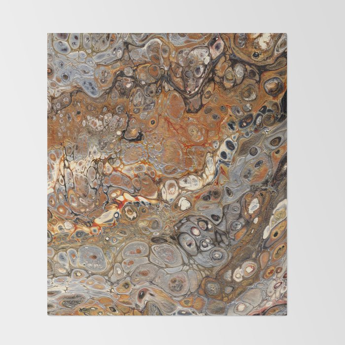 Earth Tones Lava Flow Throw Blanket