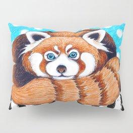Cute Red Panda Polka Dot Pillow Sham
