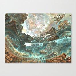 Aqua Space Shipyard Canvas Print