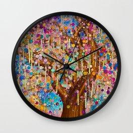Happiness Tree - Tree of life Wall Clock