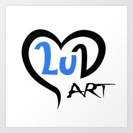 Logo of LuArt Gallery, art by a Scottish painter, Luna Smith Art Print