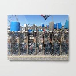 Lobster Traps, Point Judith RI Metal Print