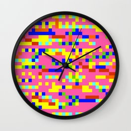 Pink Candy Camouflage Wall Clock
