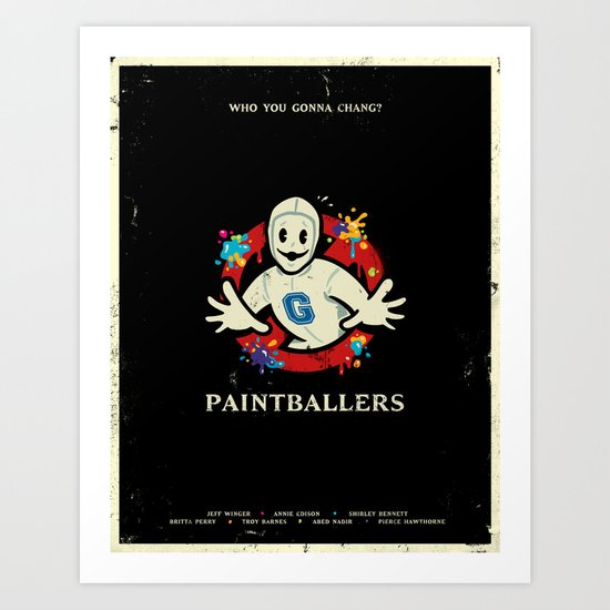 Paintballers Art Print