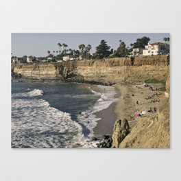 No Surf Beach at Sunset Cliffs in San Diego Canvas Print