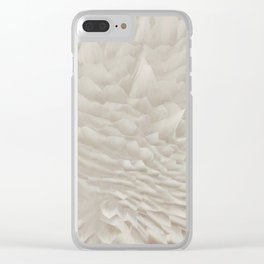 Just white Clear iPhone Case