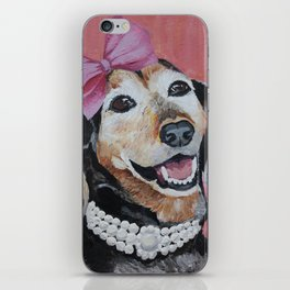 All Dolled Up Dachshund iPhone Skin