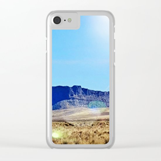 Nevada Plateau Clear iPhone Case