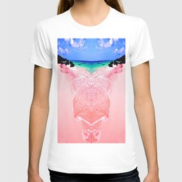 Elafonissi Chania Pink and Turquoise Sea T-shirt