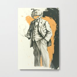 Headless Metal Print
