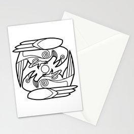Huginn & Muninn (black) Stationery Cards