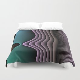 Face To Face Duvet Cover