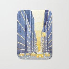 NYC, yellow cabs Bath Mat