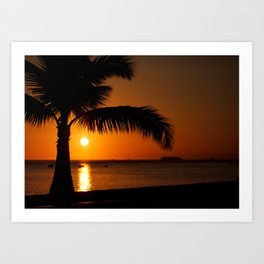 Paradise sunset6 Art Print