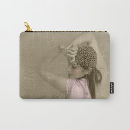 """""""Mattaharish"""" - The Playful Pinup - Vintage Weathered Pinup Girl by Maxwell H. Johnson Carry-All Pouch"""