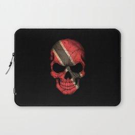 Dark Skull with Flag of Trinidad and Tobago Laptop Sleeve