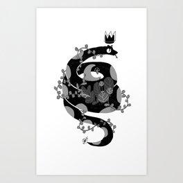 A witch companion Art Print
