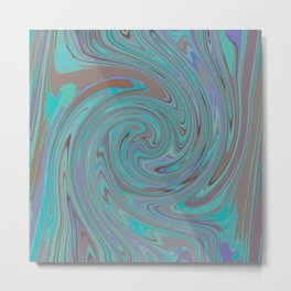 TURQUOISE FANCY Metal Print