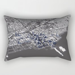 Chicago City Map I Rectangular Pillow