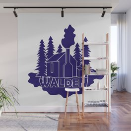 Walden - Henry David Thoreau (Blue version) Wall Mural