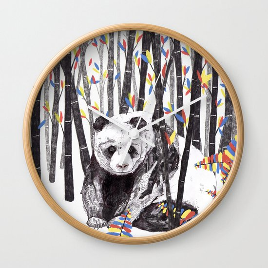 Panda Bear // Endangered Animals Wall Clock