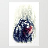 sterek Art Prints featuring sterek III by AkiMao